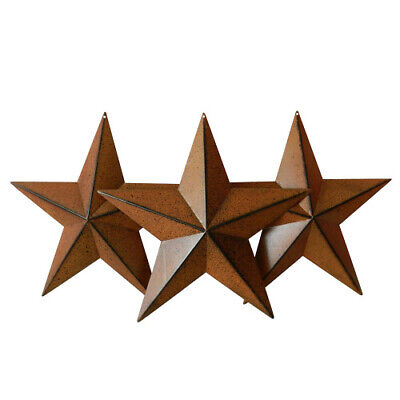 Country Rustic Antique Vintage Gifts Rusty/Black Metal Barn Star by