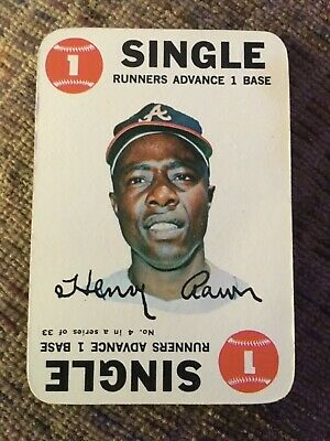 1968 Topps game Hank Aaron #4 Nm+Mint condition Atlanta Braves Fabulous cond!