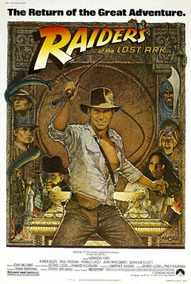RAIDERS OF THE LOST ARK MOVIE POSTER PRINT APPROX SIZE 30cm X 20cm. 12X8 INCHES
