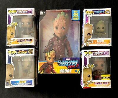 MARVEL Hasbro Funko Pop Lot Of 5 Of Groot Guardians Of The Galaxy. ALL SEALED!