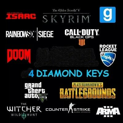 4 DIAMOND Random Steam Keys Worth +60$ 🔑+Gift 🔑