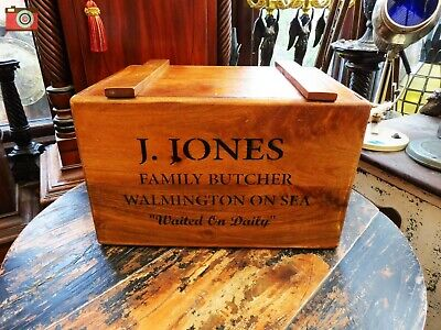 DAD'S ARMY VINTAGE ANTIQUE STYLE CRATE BOX. J.Jones Butcher. Great Fun Nice Gift