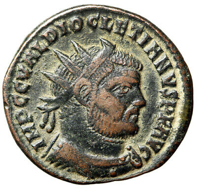 "HIGH QUALITY Diocletian Roman Coin ""Excellent Portrait, Bearded"" CERTIFIED VF"