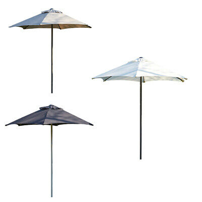 Garden Parasol 2 Metre Patio Shade Rust Proof Aluminium Pole Beige Grey Black