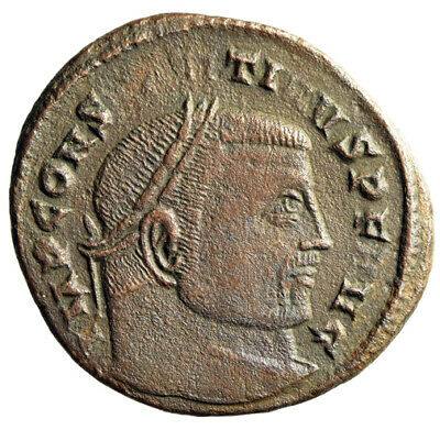 """CERTIFIED GENUINE Constantine I The Great Roman Coin """"Jupiter"""" Large 22mm Follis"""