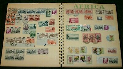 Worldwide Estate Stamp Collection 46 Countries Most Postmarked in 50's