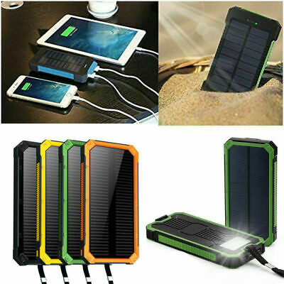30000mAh Dual USB Portable Solar Battery Charger Solar Power Bank For Cell Phone
