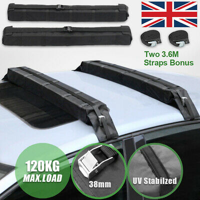 2X Car Roof Rack Travel Soft Pads Kayak Surf Luggage Storage Carrier Waterproof