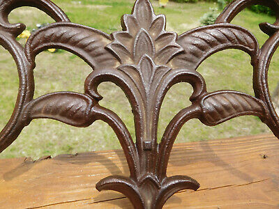 Vintage Arts & Crafts Style Flower~Leaf~Scroll Cast Iron Piece