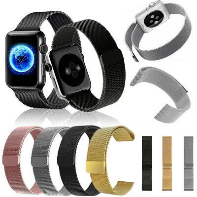 US HOT Milanese Magnetic Band For Apple Watch Series 4 3 2 1 38mm 40mm 42mm 44mm