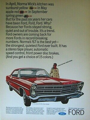 1967 Ford Mustang Take the Mustang Pledge Vintage Print Ad