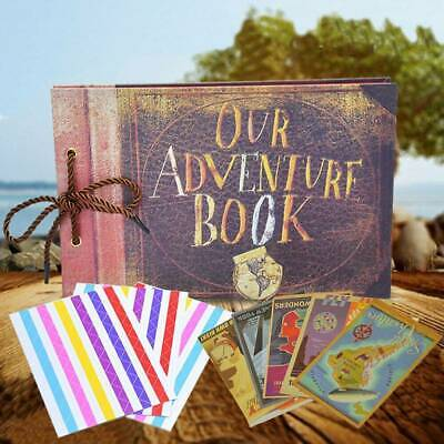 Anniversary Scrapbook DIY Self-Adhesive Photo Album Our Adventure Book 80 Pages