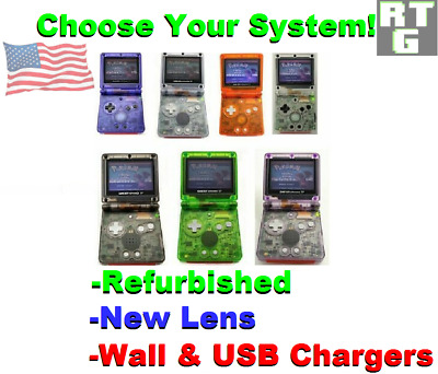 Choose Yours! Nintendo Gameboy Advance SP Frontlight, New Case, Lens & Chargers
