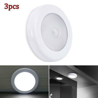 Motion Sensor PIR Light 3X 6 LED Cordless Battery Powered LED Night Light AU!