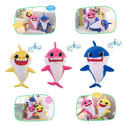Baby Shark/Mommy Shark/Daddy Shark Singing Plush Toy Singing Song Baby/Kids Gift