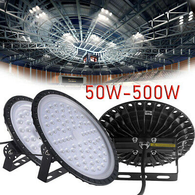 NEW 50W-500W LED UFO High Bay Light Commercial Warehouse Industrial Factory 220V