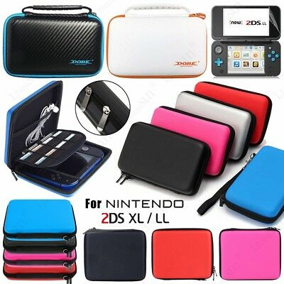 For Nintendo Switch 2DS XL LL Carrying Case Bag + Screen Protector + Clear Cover