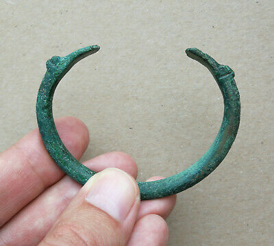 "Ancient Viking bronze bracelet tracery "" Dragon Heads "". REALLY RARE TYPE"