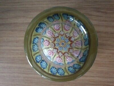 Large Vasart Millefiori Pin Dish glass paperweight