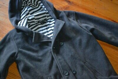 Boys Size 8 - Urban / Pumpkin Patch - Charcoal Grey, Hooded Coat/Jacket - Lined