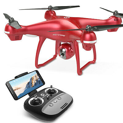 Holy Stone FPV HS100 Drohne mit 1080P Kamera HD GPS Quadrocopter Drone in ROT