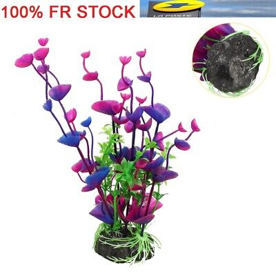 Fish Tank Aquarium Decor Artificielle Eau artificielle Violet Herbe En Plastique