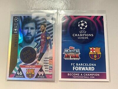Lionel Messi Match Attax Champions League 2018/19  Man Of The Match Card 397