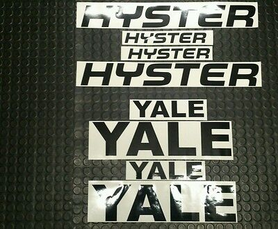 HYSTER  / YALE STICKER DECALS x4 pack FORKLIFT PARTS