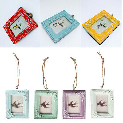 Mini Small Vintage Rustic Hanging Photograph Picture Frame Home Wall Decoration