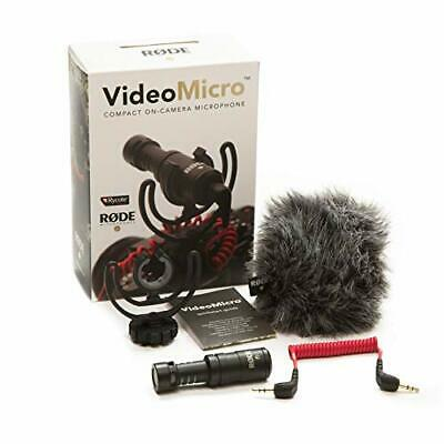 Rode VideoMicro Compact On-camera Video Microphone MIC & Wind Shield From Japan