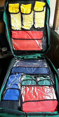 trauma bag first aid kit bag paramedic rucksack 9 separate compartments handle