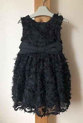 Ted Baker Girls Age 4 Years Black Party Dress Special Ocassion Vgc