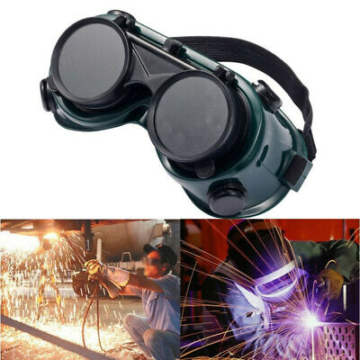 Dark Green Welding Safety Goggles Cutting Welders Glasses Flip Lens Protection