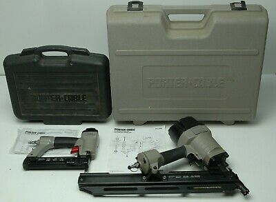 Lot of 2 Porter-Cable Framing Nailers FC350 and BN125A with Case for CHARITY