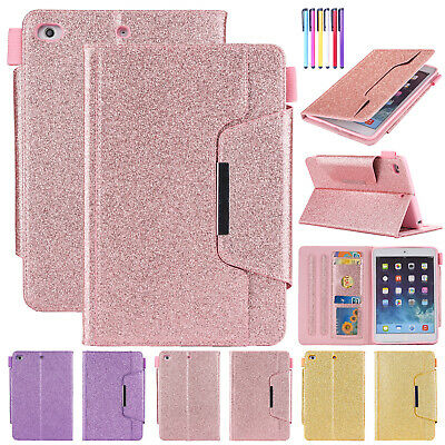 For iPad 9.7 2018 6th Gen Case Air Smart Leather Card Slot Magnetic Stand Cover