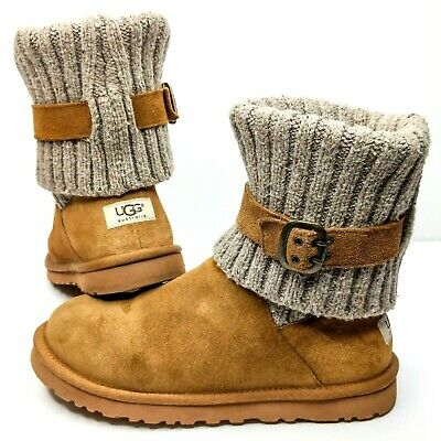 c4a54b2ee12 NEW! UGG AUSTRALIA Cambridge Chestnut Buckle 1006811 Youth Classic ...