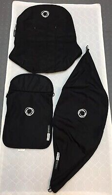 Bugaboo Cameleon 1 & 2 Fabric Canvas Set - Black - Great Condition