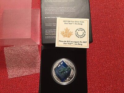 "2017 $20 1oz Silver Coin - Star Trek "" The BORG"""
