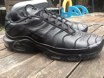 finest selection 9d571 d760b NIKE AIR MAX Plus TN Triple Black men's trainers size 10 Uk ...