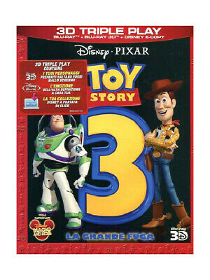 Toy story 3 3D Triple Play Blu ray 3D + 2D + Disney E-Copy Slipcase Nuovo N