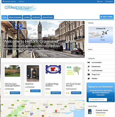 Gravesend.co.uk business Directory Website FOR SALE