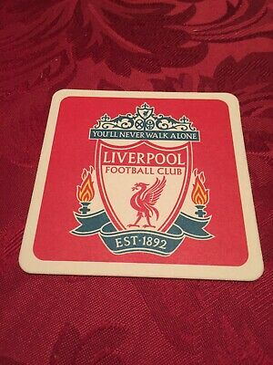 Liverpool Football Club Premier League Rare Unused Mint Condition Beer Mat