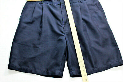 Greg Norman Mens Shorts Size 36 Polyester Pleated Blue Casual Outdoors Golf