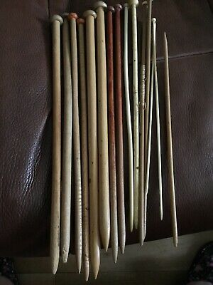 Vintage Wooden Knitting Needles