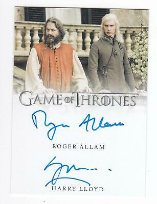 2019 Game Of Thrones Inflexions Roger Allam Harry Lloyd Viserys Dual Auto A