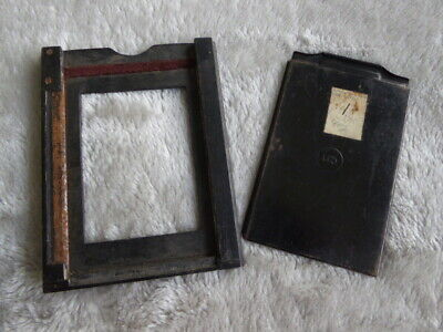 Vintage camera adaptor back to take single metal plate holder. 1 x sms included