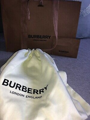 🎁Burberry M Paper Carrier Gift Bag + Dust Bag 30/21/9cm (not perfect)