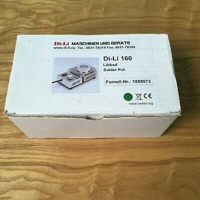 Farnell 1888072  Di-Li 160 Solder Pot New Boxed 150 Watt 200 to 500 Degrees C