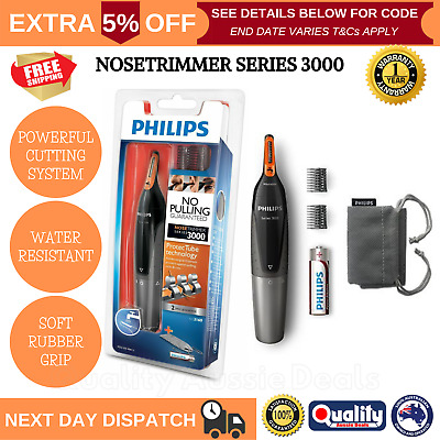 PHILIPS Mens Electric Trimmer Shaver Clippers Nose Ear Eyebrow Hair Grooming Kit
