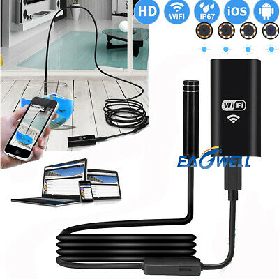 1~5M WiFi Waterproof IP68 Endoscope Inspection Camera HD - iPhone, Android, PC